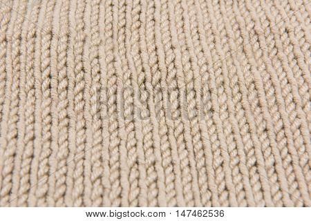 wool texture handmade patten closeup macro  beige