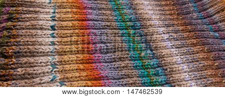 striped colorful wool texture handmade patten closeup macro blue red green yellow pink purple orange beige brown