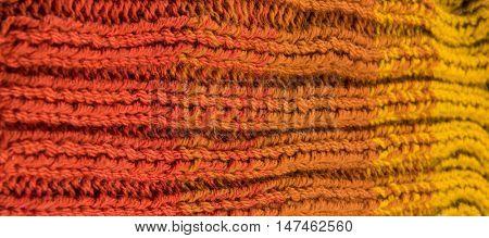 striped colorful wool texture handmade patten closeup macro blue red  yellow  orange gradient