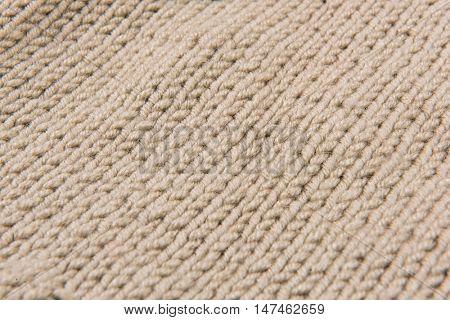 beige wool texture handmade patten closeup macro