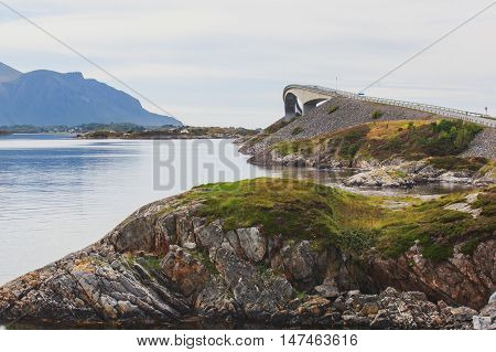 Famous Norwegian Atlantic Ocean Road, Norway