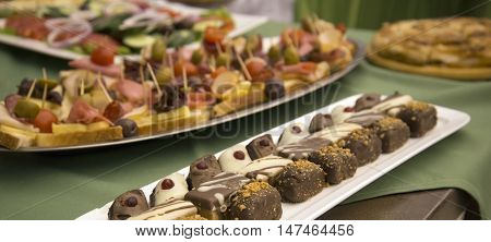 picture of a well decorated catering food for weddings or other events