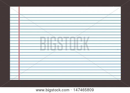 Notebook Paper line.Notebook Lined Paper Background Or Texture .