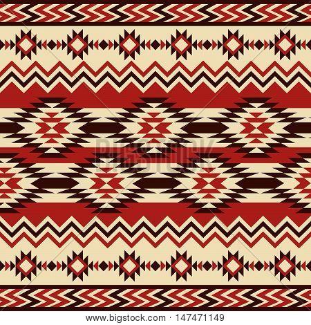 Ethnic ornament. Seamless Navajo pattern. Vector Illustration