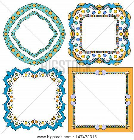 Colorful Frame Collection isolated over white background