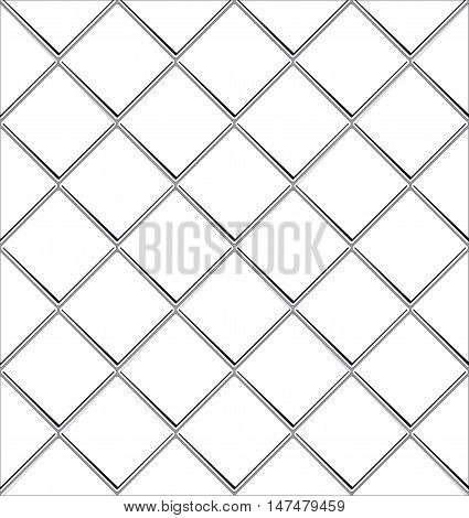 Black And White tile seamless background in grunge style. EPS 10