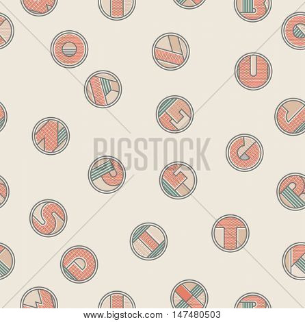 Seamless pattern with letters. Pop art style