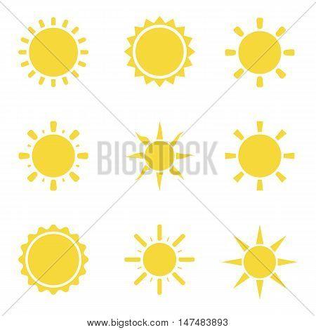 Sun icon set. Sun burst star logo icon. Sun star, summer, nature, sky, summer. Sunshine sun logo. Sun icon. Sun logo. Star vector icon logo. Sun silhouette. Sun isolated vector logo, sun logo