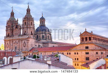 View of Salamanca at dusk, Spain