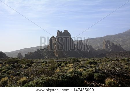 Landscape from Teide National Park, Volcano on Tenerife, Canary Islands,Spain