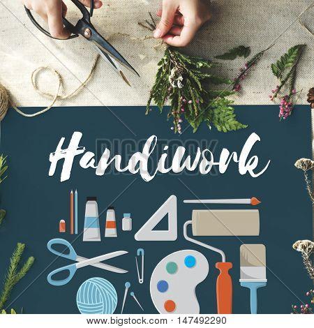 Handicraft Handmade Handiwork Art Design Ideas Concept