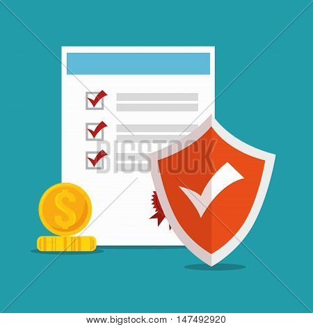 icon policy insurance security design vector illustration eps 10