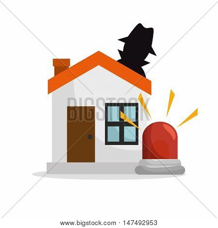 house thief insurance protection design vector illustration eps 10