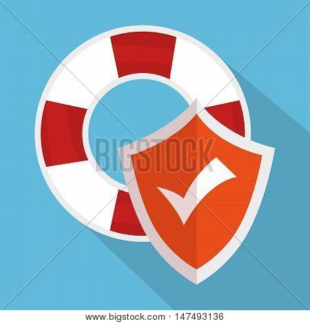 icon insurance flood design vector illustration eps 10