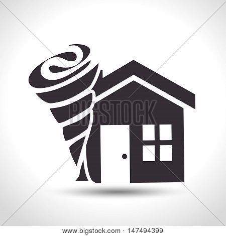 house insurance house tornado protection design vector illustration eps 10