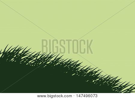 Green grass icon. lawn plant nature and field theme. Vector illustration