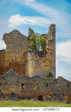 Medieval Castle In Ucero, Soria, Castilla Y Leon, Spain