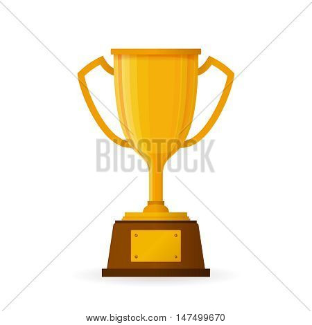 Winners Goblet Isolated On White In Flat Style