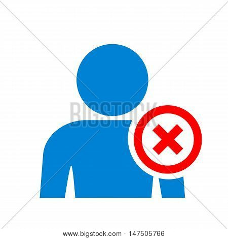 User banned icon vector illustration isolated on white background