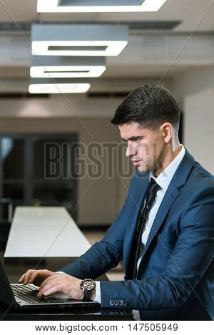 Professional Consultant Working In The Office