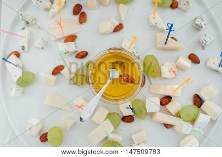 Delicious Canapes With Honey As Event Dish