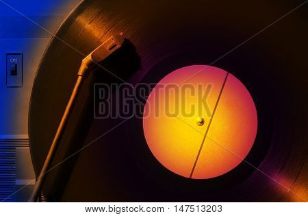 Phonograph Record DJ Disk Music colourful background