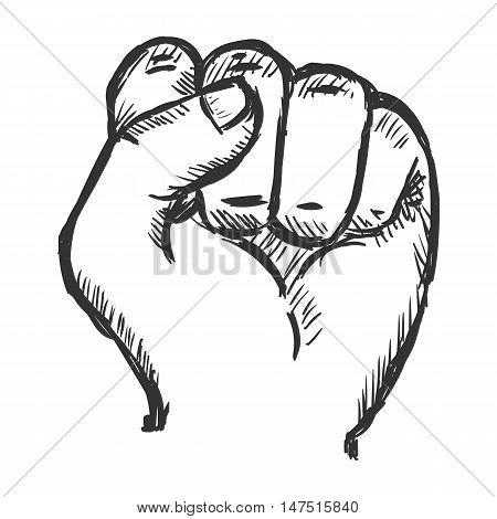 Vector Sketch Fist