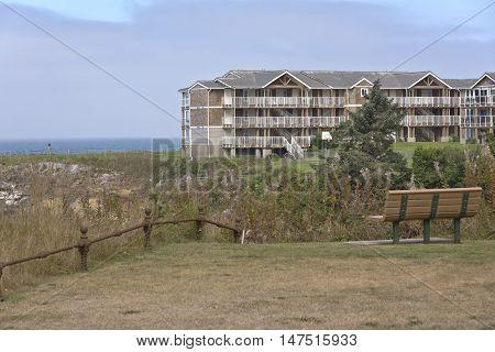 Large condominiums in Lincoln City Oregon coast.
