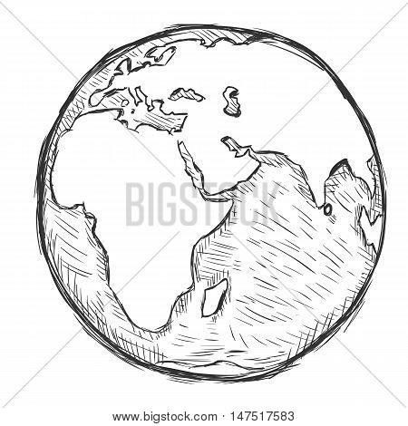 Vector Sketch Illustration - Globe