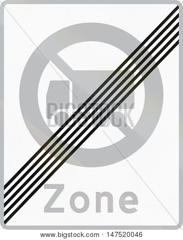 Road Sign Used In Denmark - End Of No Lorry Zone