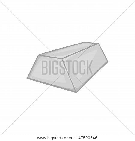 Gold bar icon in black monochrome style on a white background vector illustration