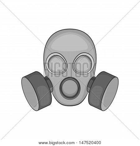 Gas mask icon in black monochrome style on a white background vector illustration