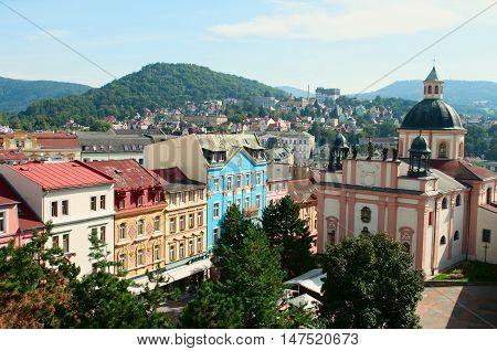 View on historic center of Decin in North Bohemia. Czech Republic