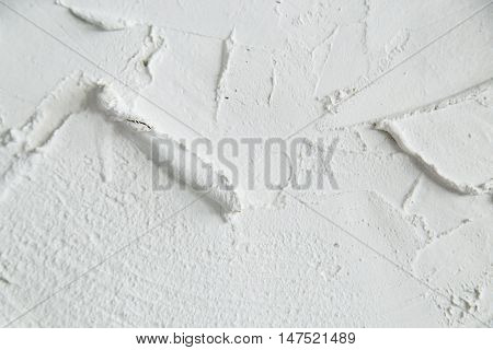 Stucco white wall background or texture of wall