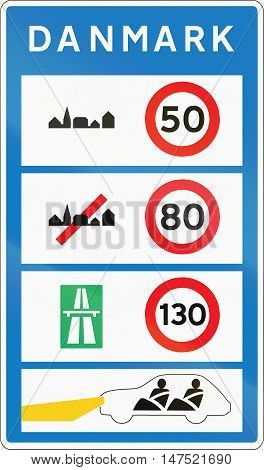 Overview Of Speed Limits Safety Requirements In Denmark