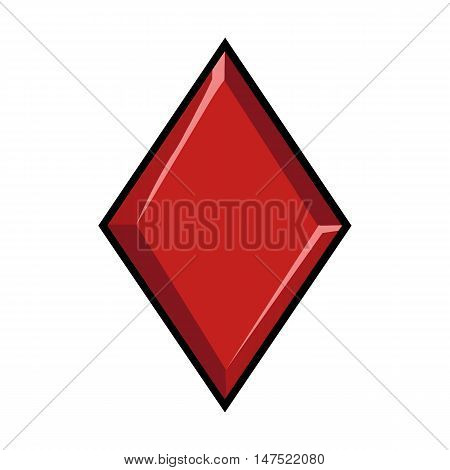 Vector Single Sign Of Playing Cards Suit - Diamond