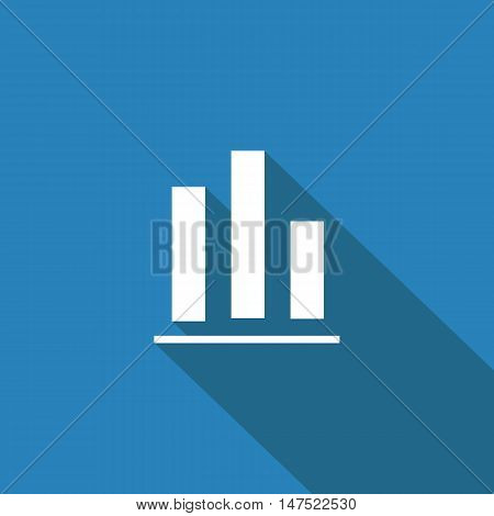 Graph icon Flat design style vector illustration. long shadow icon.