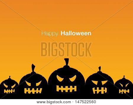 Happy Halloween holiday card display design, vector illustration eps10.