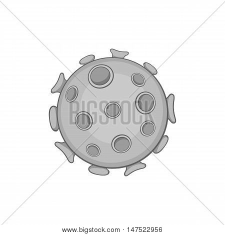 Virus icon in black monochrome style on a white background vector illustration