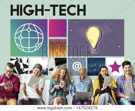 High Tech Technology Innovation Concept