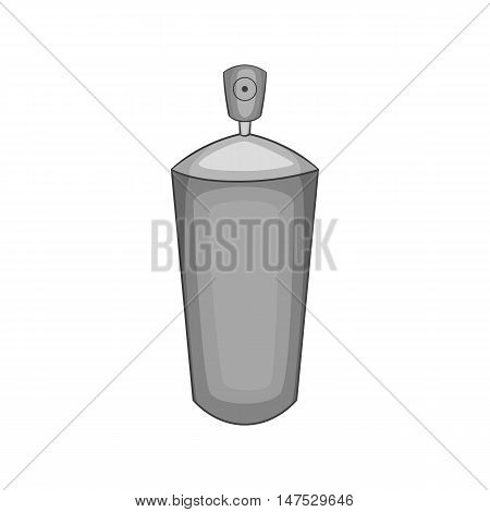 Shaving foam icon in black monochrome style isolated on white background vector illustration
