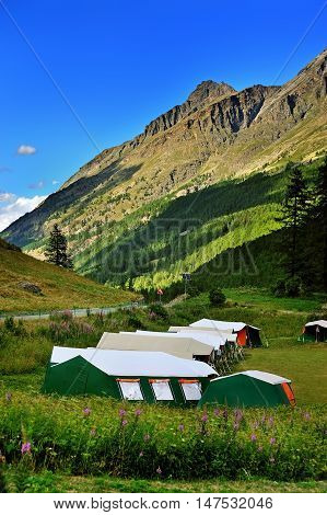 childrens summer camp in Gran Paradiso National Park Valle Aosta Italy