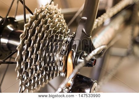 A bicycle rear cassette with 11 speeds