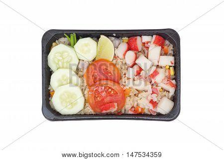 Takeaway food / Fried rice wtih crab stick