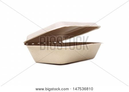 A food box made of paper isolated on white