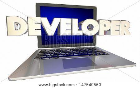 Developer Software Engineer Website Programmer 3d Illustration