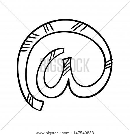 at sign arroba icon. enclosed a. vector illustration