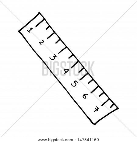 ruler with centimeters numbers. drawn design. vector illustration