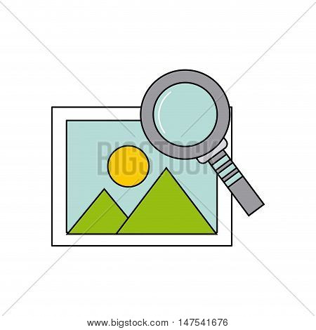 picture file with social media icon vector illustration design