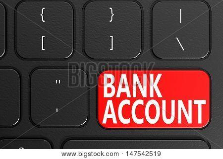 Bank Account On Black Keyboard